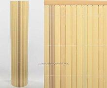 Kunststoffmatte 100 x 300cm Farbe:bambus Modell Exclusiv - Sichtschutz Balkon Terasse Garten Sicht Schutz Sonnenschutz Windschutz