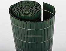 Kunststoffmatte 160 x 300cm Farbe: grün Modell Exclusiv - Sichtschutz Balkon Terasse Garten Sicht Schutz Sonnenschutz Windschutz
