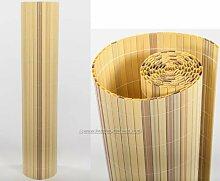Kunststoffmatte 90 x 200cm Farbe: bambus Modell Exclusiv - Sichtschutz Balkon Terasse Garten Sicht Schutz Sonnenschutz Windschutz