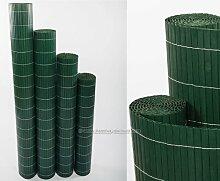 Kunststoffmatte 90 x 300cm Farbe: grün Modell Exclusiv - Sichtschutz Balkon Terasse Garten Sicht Schutz Sonnenschutz Windschutz