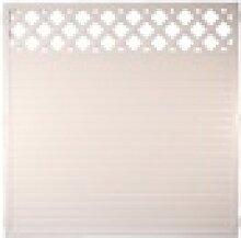 Kunststoffzaun 180 x 180 cm Weiß mit Rankgitter