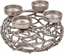 Kunstversteck Design Kerzenleuchter Silber, massiv