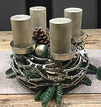 Kunstversteck Designer Adventskranz Kerzenleuchter