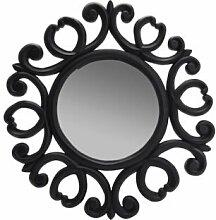 Kunstvolles Wandspiegel rund–schwarz