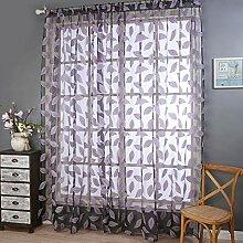 KUOZEN Vorhang weiß gardinen Vorhänge für