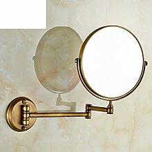 Kupfer Antik Bad Kosmetikspiegel Faltung Spiegel Wandspiegel Teleskop Spiegel