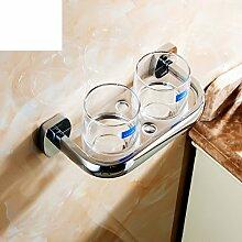Kupfer Bad-Accessoires/Glass Tumbler Cup Doppel/Zahnbürste Becherhalter