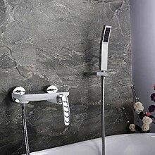 Kupfer Bad Wasserhahn mit Handbrause heißes und