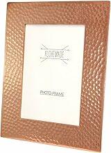 Kupfer-Bilderrahmen, gehämmert, 5 x 7 cm