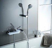 Kupfer Dusche Badewanne Armatur Wasserhahn Dusche Paket Wand Wasser Mischventil