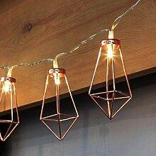 Kupfer geometrische LED Lichterkette – 4 Meter |