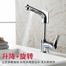 Kupfer Pull Typ Wasserhahn Hot Basin Wasserhahn