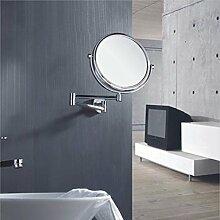 Kupfer Schönheit Spiegel/Bad Kosmetikspiegel/Bad Kosmetikspiegel/Faltung Teleskop Wandspiegel-B