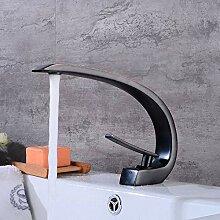 Kupfer schwarz antiken Wasserhahn heißen und