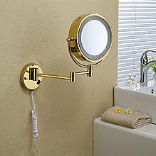 Kupfer Spiegel Badezimmer Badezimmer Spiegel an der Wand montierten Falten Kosmetik Spiegel