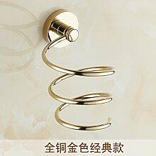 Kupfer und Gold Fön Rack Fön Haartrockner WC Badezimmer Rack Storage Rack Fön Kupfer und Gold