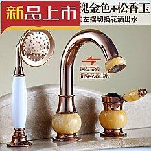 Kupfer Waschbecken Mischbatterie mit Dusche Düse
