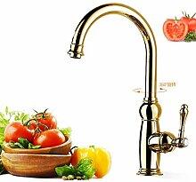 Kupfer Wasserhahn Becken Küche Waschbecken Heiß