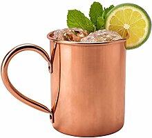 Kupfertasse 0,5 Liter - stilvolle Tasse zur