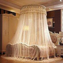 Kuppelförmige Moskitonetze, hängende Decke, keine Installation, Dekoration 1.2 / 1.35 / 1.5 / 1.8 / 2 / 2.2 / 2.4 m Bett , 3 , 220*240cm