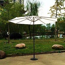 Kurbel Sonnenschirm Gartenschirm Terrasse Sonnenschutz Kurbelschirm Ø2,7m H2,5m, Gestell Aluminium/Stahl, ohne Schirmständer, ca. 5.2kg (Beige)