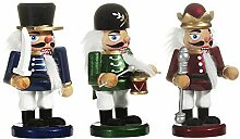 Kurt Adler 5-Inch Chubby Nutcracker, Set of 3