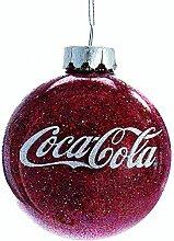 Kurt Adler CC4161 Coca-Cola Glaskugel, glitzernd,
