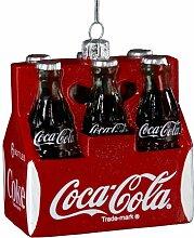 Kurt Adler Coca-Cola Dekofigur, Glas, 7,6 cm, 6