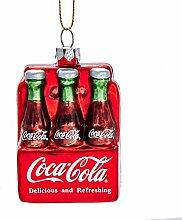 Kurt Adler Coca Cola Glasornament, 6 Stück