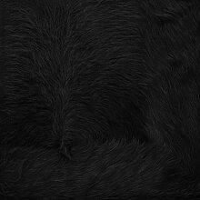 Kurth Kuhfellteppich Q3 mit Fellrand, schwarz Fell