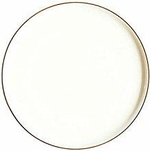 Kurze nordische runde Keramikplatte Massivgold