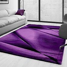 Kurzflor Guenstige Teppich modern geometrisch Lienien Schatten Muster Schwarz Lila Pink meliert 5 Groessen Wohnzimmer, Gästezimmer , Flur, Schlafzimmerm, Kueche, Läufer, Größe:120x170 cm
