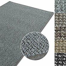 Kurzflor Teppich Carlton | Flachgewebe dezent gemustert | robuster Schlingenteppich in vielen Größen | als Wohnzimmerteppich, Küchenteppich, Schlafzimmerteppich (Hellgrau - 300x400 cm)