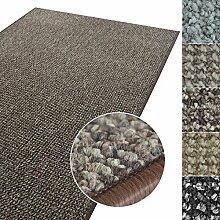 Kurzflor Teppich Carlton | Flachgewebe dezent gemustert | robuster Schlingenteppich in vielen Größen | als Wohnzimmerteppich, Küchenteppich, Schlafzimmerteppich (Braun - 200x300 cm)
