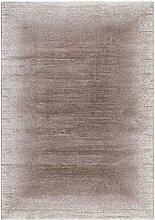 Kurzflor Teppich in Beige modern