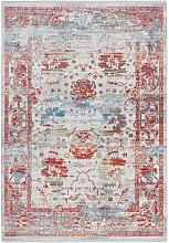 Kurzflor Teppich in Bunt Vintage Design