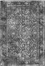 Kurzflor Teppich in Grau Vintage Style