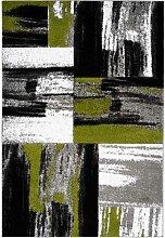 Kurzflor Teppich in Grün mehrfarbig