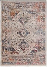 Kurzflor Teppich mit orientalischem Muster 1 cm