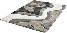 Kurzflor Teppich silber ca. 160 x 230 cm