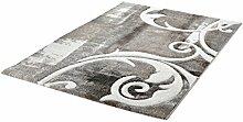 Kurzflor Teppich taupe ca. 60 x 110 cm