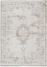 Kurzfloriger Vintage-Teppich mit Ornament-Muster