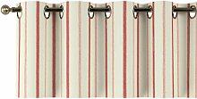 Kurzgardine mit Ösen, creme- rot, 130 × 40 cm,