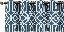 Kurzgardine mit Ösen, dunkelblau, 130 × 40 cm,