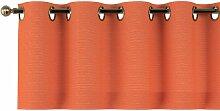 Kurzgardine mit Ösen, orange, 130 × 40 cm,
