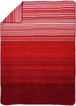 KUSCHELDECKE 150/200 cm Rot, Weiß