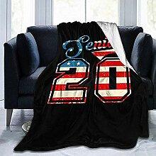 Kuscheldecke America Flag Senior 2020 Klasse 2020
