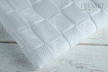 Kuscheldecke Babydecke Kinderwagendecke Taufdecke Baumwolle 110x100 Geschenkidee Weiß