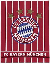 Kuscheldecke FC Bayern München gestreift