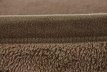 Kuscheldecke Fleece-Decke Wolldecke Tagesdecke Wohndecke Plaid Sofa Braun 220x240cm | mit Antipilling Effekt | Antistatisch | Exklusive Verarbeitung - Doppelt umsäumte Nah